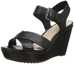 Clarks Scent Sky, Damen Slingback Sandalen mit Keilabsatz, Schwarz (Black Leather), 35.5 EU (3 Damen UK) - http://on-line-kaufen.de/clarks/35-5-eu-clarks-scent-sky-damen-slingback-sandalen