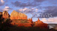 Sedona, Arizona Rock Formation, Zoom in HD Stock Footage Clip. Medium shot. 2014-03-28, UNITED STATES.