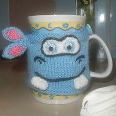 Hippo Cup Cozy--so cute!