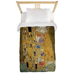 Gustav Klimt - The Kiss Twin Duvet on CafePress.com