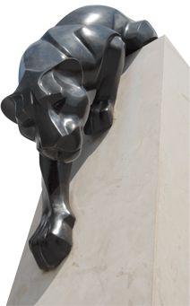 Panther statue on campus (sculptor: Rosetta) Abstract Sculpture, Sculpture Art, Art Nouveau, Art Deco Posters, Cat Jewelry, Art Model, Animal Sculptures, Art Deco Design, Clay Art