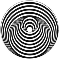 """Vertigo"" Records Label logo inspired to a work of Bridget Riley (Art-Designer, painter of Op-Art), made of 1963 Art Optical, Optical Illusions, Optical Illusion Art, Bridget Riley Op Art, Opt Art, Foto Portrait, Graphic Art, Graphic Design, Kinetic Art"
