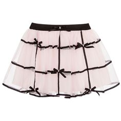 Kate Mack & Biscotti Girls Pink Tulle & Black Ribbon Skirt at Childrensalon.com