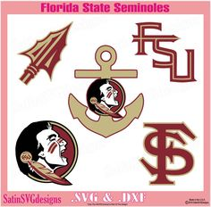 Florida State Seminoles Design Kit Files Use by SatinSVGdesigns