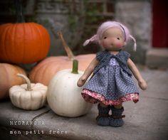 Natural fiber art doll by Mon Petit Frère