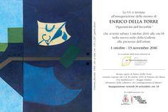 """Vi aspettiamo sabato 1 ottobre, alle ore 18.00, nella nuova sede della Galleria (Via Sessi, 1/F), per l'inaugurazione della mostra di #EnricoDellaTorre, """"Figuratività dell'Invisibile"""". Sarà presente l'artista. #InContemporaneaRE"""