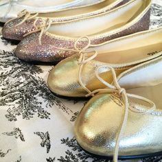 Pirouette ballet flats in metallic heaven