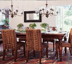I absolutely love this dining room.  The seagrass chairs are FABULOUS!!!