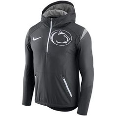 Nike Penn State Nittany Lions Anthracite Sideline Fly Rush Half-Zip Jacket #pennstate #psu #nittanylions Nike Ohio State, Ohio State Buckeyes, Nike Clothes Mens, Lions Team, Nike Gear, Nittany Lion, Team Gear, Nike Outfits, Nike Jacket
