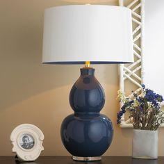 Pop Color Modern Ceramic Table Lamp navy