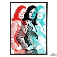 Triple #EmmaPeel - #TheAvengers #PopArt #MrsPeel http://artandhue.com/shop/triple-emma/