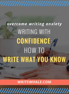 "Click through and tackle the easily misunderstood ""write what you know"" writing advice. Learn some strategies to overcome writing anxiety. Free writing workbook download included via @lizrufiange"