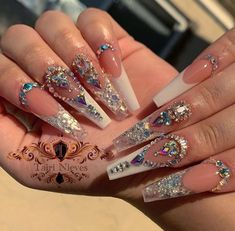 Nude blush cover , from , buy yours from code TAIRI for a discount! Bling Acrylic Nails, Aycrlic Nails, Best Acrylic Nails, Glam Nails, Rhinestone Nails, Bling Nails, Nail Designs Bling, Nails Design With Rhinestones, Acrylic Nail Designs
