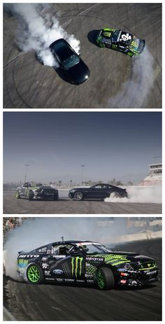 All Smoke, No Joke: 2015 Mustang Meets Formula Drift. Click to watch the video #autoawesome