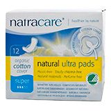 Natracare Organic Cotton Ultra Pads with Wings Super (12) | Faithful to Nature