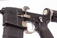 """Designed for all mil-spec forged lower receivers, the Advanced Safety Trigger Guard simultaneously opens up the trigger guard and provides a solid tactile place for a finger rest (while taking up that annoying gap). High Velocity Arms toutsthat the ASTG gives """"increased leverage for competition / tactical maneuvers."""" The ASTG is all-steel construction, available in …   Read More …"""