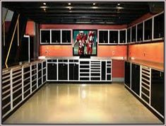 Man Cave Garage country Man Cave Garage country Custom Made to Order Cargo Container Office space image 2 Atelier Detroit Custom Steel Garage Cabinets, Garage Cabinet System Gallery of Garage & Shop Aluminum Cabinets Garage House, Man Cave Garage, Garage Shop, Dream Garage, Car Garage, Garage Tools, Garage Workshop Organization, Organization Ideas, Storage Ideas