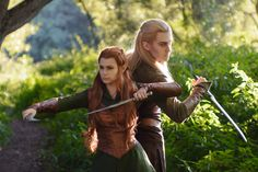 Legolas and Tauriel - Lucky Strike Tauriel Cosplay Photo - Cure WorldCosplay