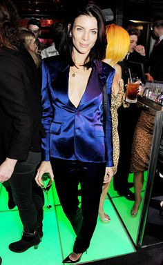 Liberty Ross Parties, Flaunts Cleavage in London