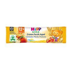 Heerlijke mueslireep met granen, perzik en appel. De HiPP mueslirepen zijn…