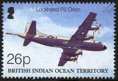 US Navy LOCKHEED P-3 / P3 ORION Aircraft Stamp (2003 BIOT Centenary of Flight)