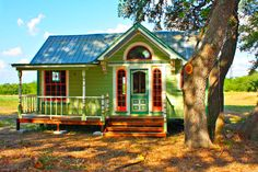 Tiny Texas Houses Are Colorful Abodes Made from Reclaimed Mate...