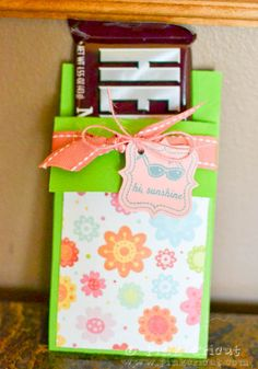 Can make this candy bar holder as an invite to a sugar rush party!!