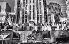 Rockefeller Center Black And White