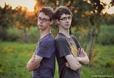 Matthijs en Stefan Broers, fotoshoot, zonsondergang Daniëlle Schimmel Fotografie