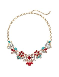 Floral Jewel Statement Necklace from THELIMITED.com #ItsTime #TheLimited