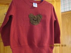 Cute furry bear sweatshirt size T 2 Personalized by platopooch