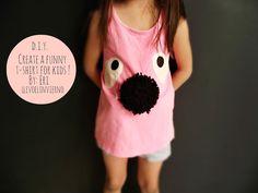 Create a funny DIY t-shirt for kids! // via llevo el invierno: