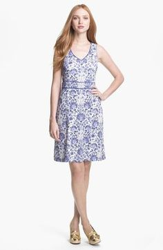 Tory Burch Gene Silk A Line Dress Tory Burch
