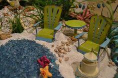 Fairy Garden Miniature Adirondack Set