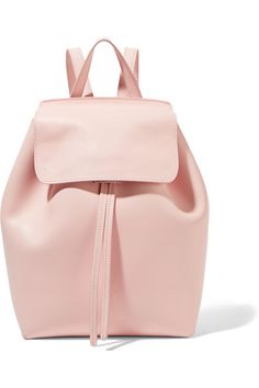 We love Mansur Gavriel's focus on soft colors and beautiful materials. This pretty pastel-pink backpack has been crafted in Italy from matte-leather. Sized to fit just the essentials, it's unlined to maximize the minimalist aesthetic but has a small zipped pocket for cards.