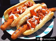 Thank you @farmerjohnla!! The top voted on dog from round #1 with the most votes goes to @lafoodies Bacon Me So Hot Dog #DodgerDog1   Theres still time to enter to win weekly prizes and the grand prize! To enter to win follow @farmerjohnla and vote on your favorite Dodger Dogs by heading over to @Dodgers  ___________________________________________________ WEEKLY PRIZES: 2 Dodgers tickets and $20 worth of FARMER JOHN Products! ___________________________________________________ GRAND PRIZE…