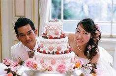 新郎新婦様からのメール 木の家とうさぎとマカロンケーキ : 一会 ウエディングの花