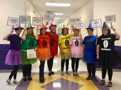 Literary Character Day, The Day the Crayons Quit, Group literary costumes