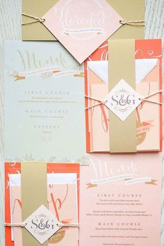 assembling Your wedding invitations | via Fly Away Bride