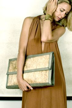 HARE+HART - Vegetable tanned, un-dyed haircalf with gold hardware.