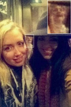 Ghost photobombs girls on night out