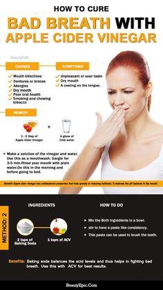 how to use apple cider vinegar for bad breath #CureBadBreathDIY #BadBreathCure