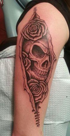 Skull tattoo by Jared1481