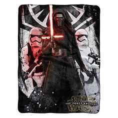 """Lucas Films' Star Wars Episode 7: The Force Awakens, First Order Micro Raschel Throw by The Northwest Company, 46"""" by 60"""""""