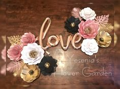 Paper Flowers -Rose Gold and combination set