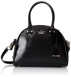 kate spade york Cedar Street Patent Small Pearl Top Handle Bag, Black, One Size by kate spade new york