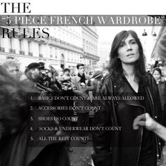 The five piece french wardrobe rules