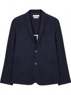 Kestin Hare Pembroke Blazer: High quality production and fine fabrics are core values for Kestin Hare. This navy canvas blazer in the Pembroke style is no exception. Featuring notched lapels, the deconstructed style has a half back drop lining and white binding on all inner seams. It features 3 outer patch pockets, one inside pocket on the left hand side and is finished with navy powder coated metal buttons. Made in the UK from 100% cotton, this midweight blazer strikes the perfect balance…