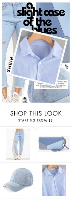 """""""Summer Blues featuring SHEIN.com"""" by cultofsharon ❤ liked on Polyvore featuring WithChic"""