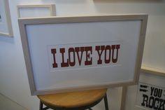 I love you Letterpress print 2012 by annewanda on Etsy